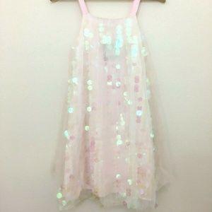 Halabaloo Pink Tulle Metallic Sequin Dress Girl 12